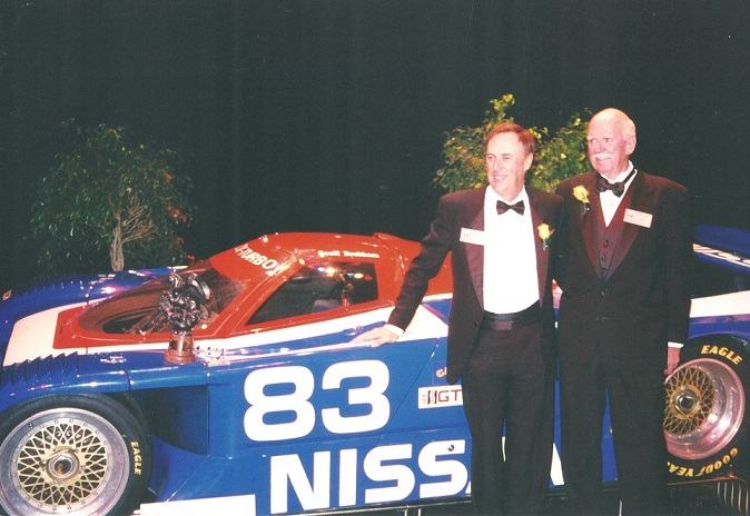 Kas and Geoff Brabham at the Motorsports Hall of Fame, 2003